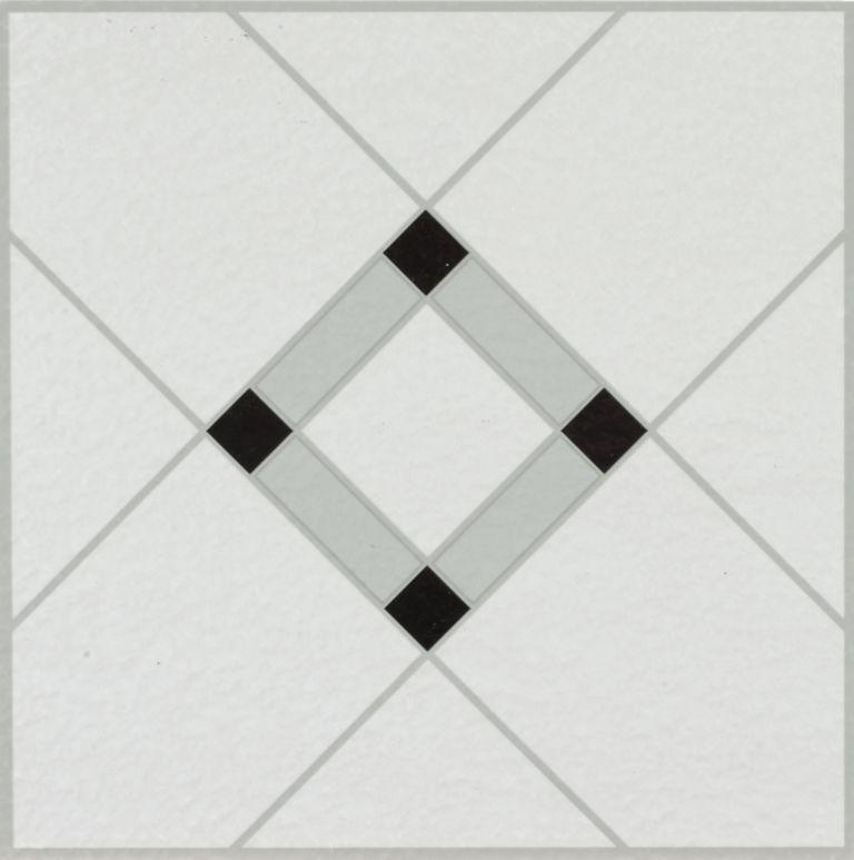 Lattice Lane - Black/White Vinyl Tile 25280