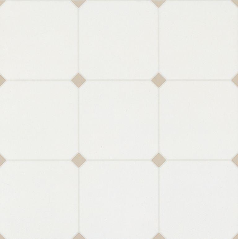 Castleford - Beige/White Vinyl Sheet 62800