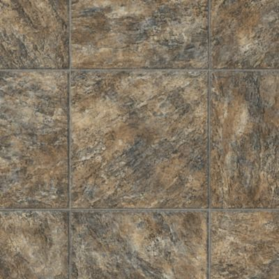 Cottage Stone - Fire Walk Vinyl Sheet 66254