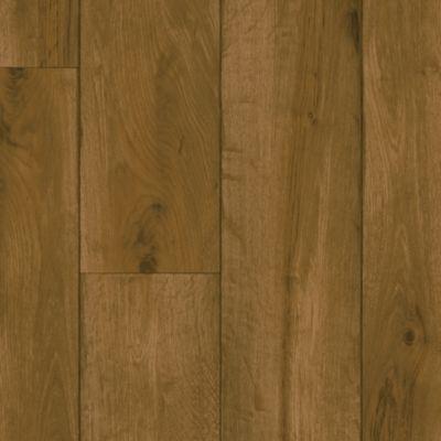 Rustic Oak Timber - Chestnut Brown Vinyl Sheet G2131