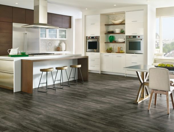 Luxe Plank, an innovative, *waterproof flooring, brings the natural beauty  of hardwood and stone to any room in your home - even bathrooms and  basements. - Luxe Luxury Vinyl Planks From Armstrong Flooring