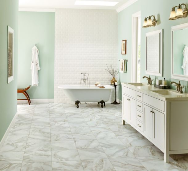 Armstrong Flooring Options: Bathroom Design Ideas From Armstrong