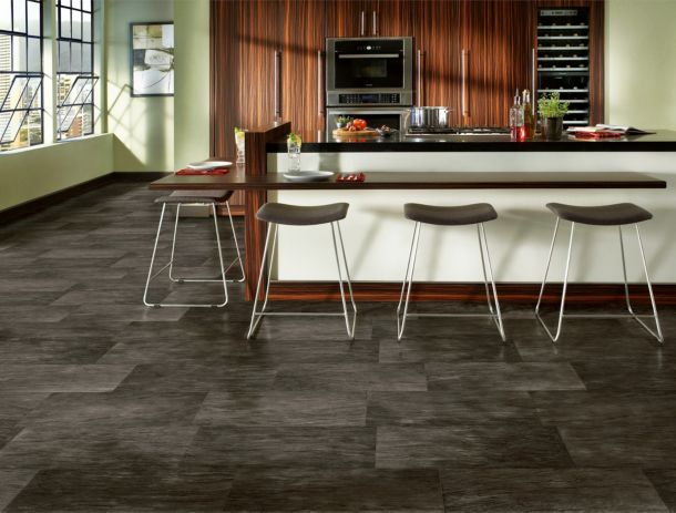 Lafayette black vinyl flooring – B6114