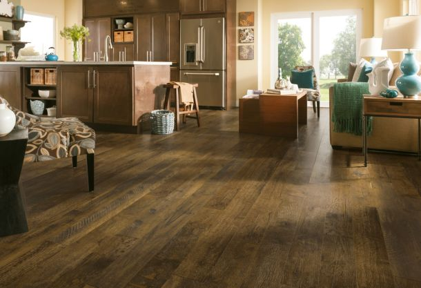 Forestry Mixed - Brown Washed Laminate Flooring