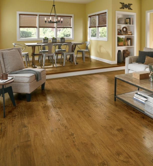 hickory hand scraped laminate flooring - L6639