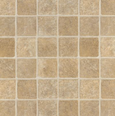 French Paver - Tan Vinyl Sheet X2516