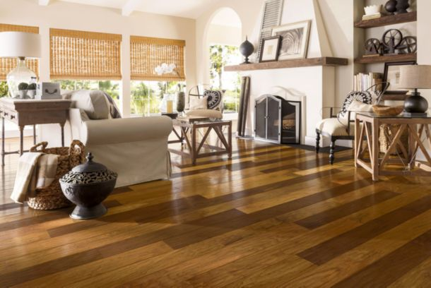 Interior designers working with walnut hardwood flooring like to contrast  the dark tones of walnut with lighter wooden furniture. The combination of  light ... - Walnut Flooring From Armstrong Flooring